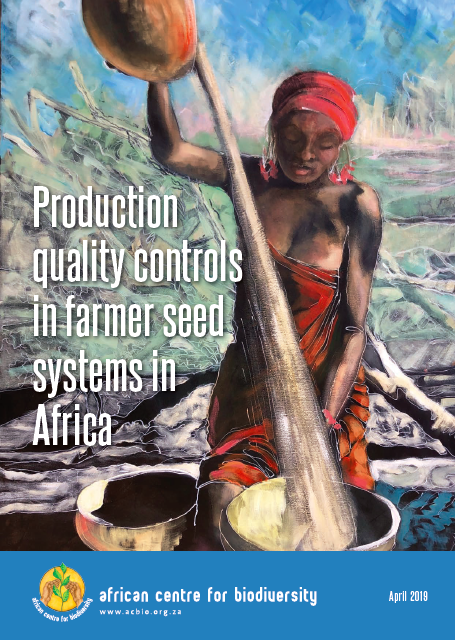 Production quality controls in farmer seed systems in Africa
